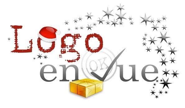 Agence de création de logo d'entreprise fête noël