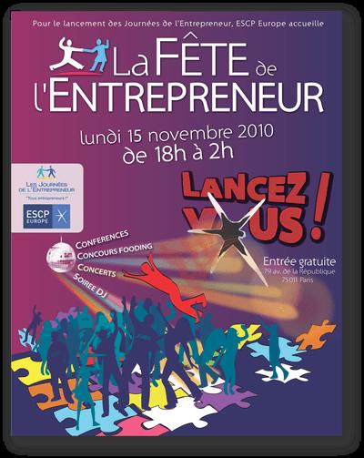 Affiche de la Fête de l'Entrepreneur - Participation Logo en Vue