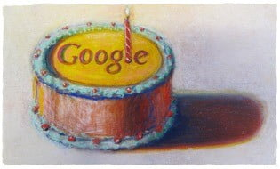 Google a 12 ans Logo