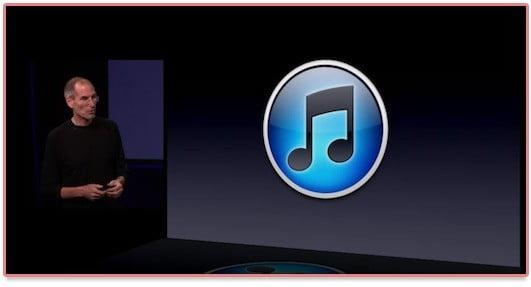 Logo iTunes 10 présenté pendant le keynote Apple