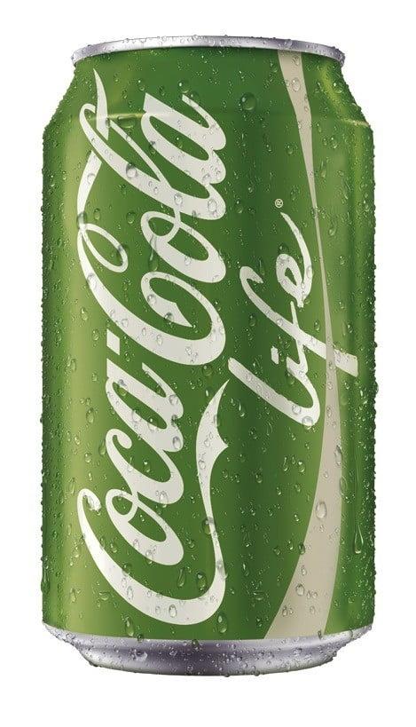 La canette ornée du logo vert de Coca-Cola Life
