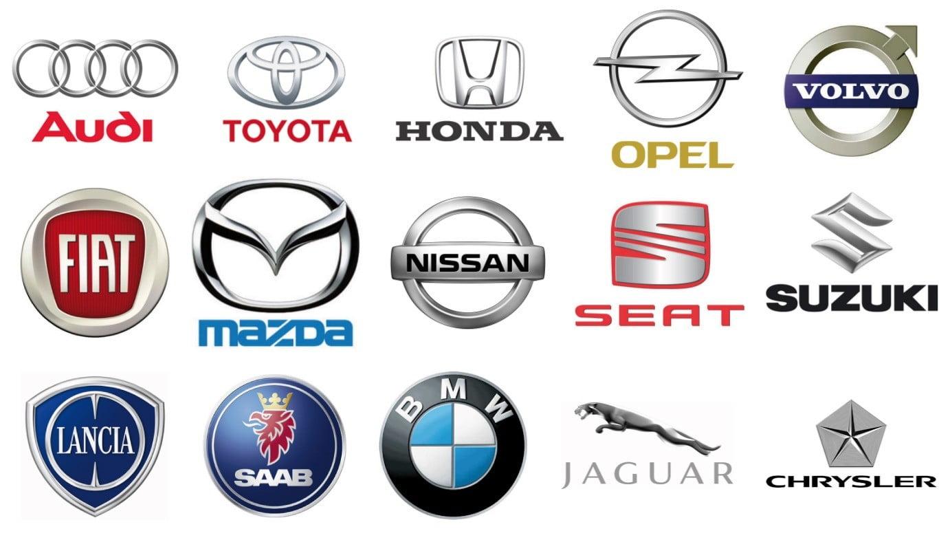 Les logos de marques de voiture