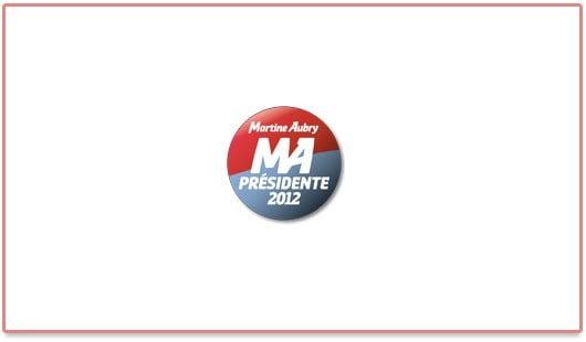 Logo de Martine Aubry, une candidate du PS aux élections présidentielles de 2012