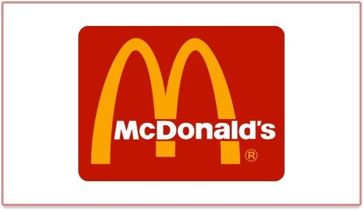 Ancien logo rouge de McDonald's