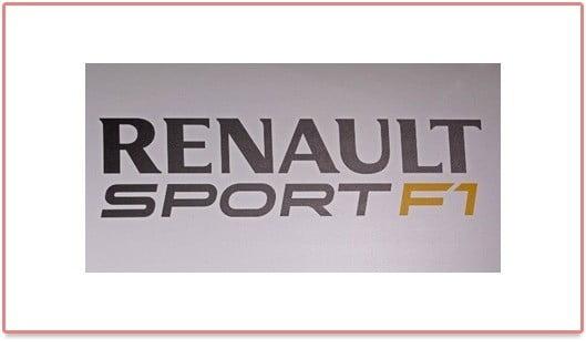Le logo Renault Sport F1