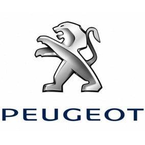 Le logo de la marque de voiture Peugeot