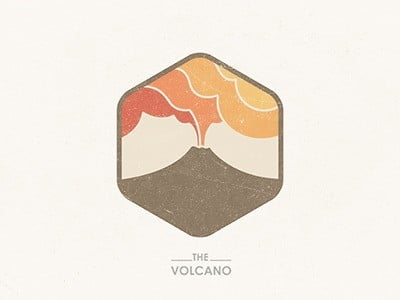 Logo Vintage - Volcan