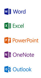 Logo Word - PowerPoint - Excel - Outlook