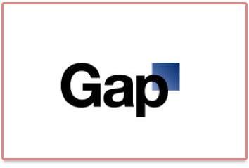 Nouveau logo de Gap analysé par Logo en Vue