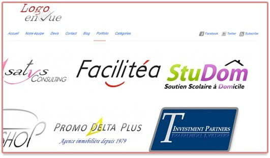 Site internet du portfolio de Logo en Vue