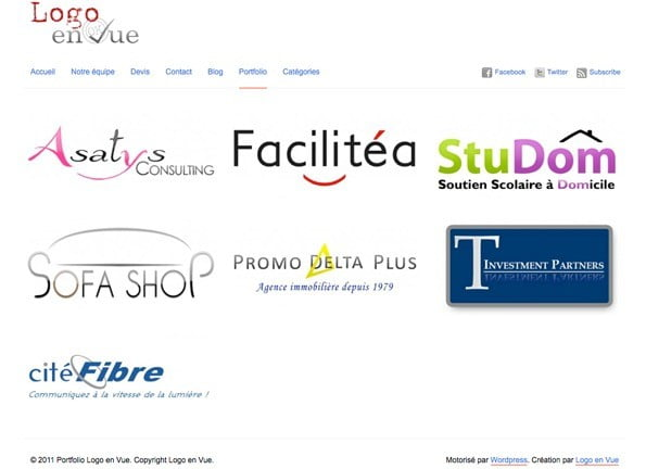 Portfolio de la création de logo par Logo en Vue