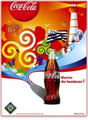 Publicité Coca Cola Bretagne