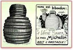 La première publicité Michelin avec Bibendum