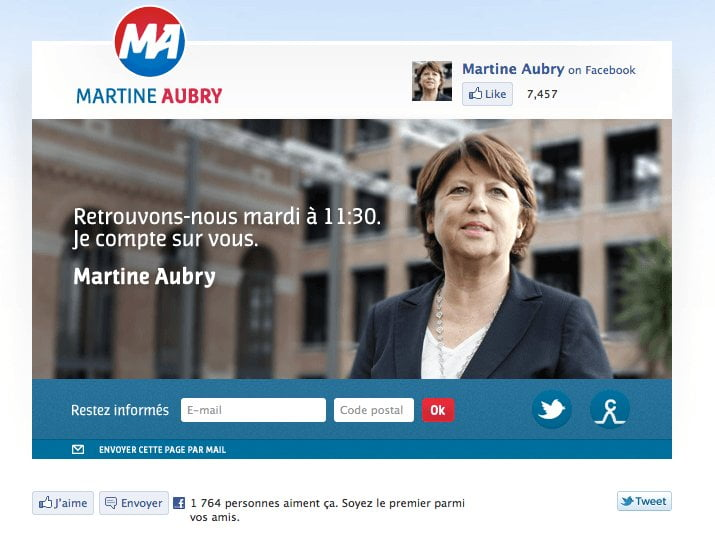 Site internet de Martine Aubry