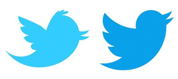 Comparaison de logo de Twitter